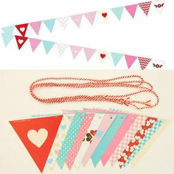 Party Triangle Paper Banners Flags for Home Decoration, Kids