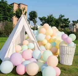 Pastel Latex Balloons Assorted Rainbow Candy Colored Party S