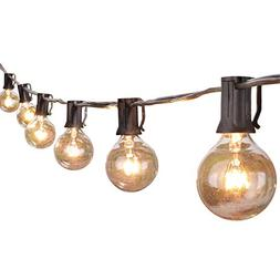 100Ft Outdoor Patio String Lights with 100 Clear Globe G40 B