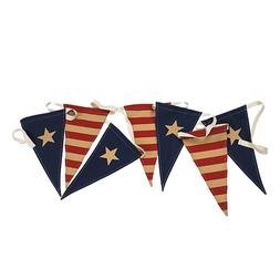 Patriotic Holiday Party American Flags Pennant Banner Fourth