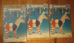 Patriotic Party Decoration Donkey lot of 3  RED,WHITE & BLUE
