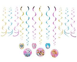 paw patrol hanging swirl decorations 12 count