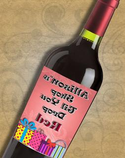 Personalized Bar & Bat Mitzvah Shopping Wine Labels - Custom