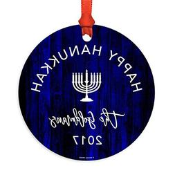 Andaz Press Personalized Jewish Family Hanukkah Metal Orname