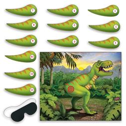 Pin The Tail On The Dinosaur Game Decor T-Rex Donkey Jungle
