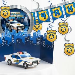 Police Birthday Party Decorations Kit
