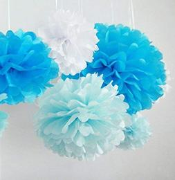 Pom Poms 5 Pcs 10'' 12'' Tissue Paper Flowers Flower Ball fo