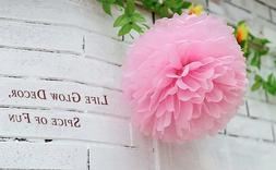 Pom Poms Tissue Paper Flowers Ball for Wedding Party Decorat