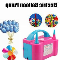 Portable Electric Balloon Air Pump Two Nozzle Inflator Blowe
