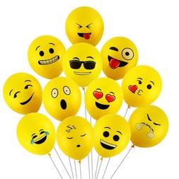 Premium Emoji Party Balloons 72 Pack Party Decorations