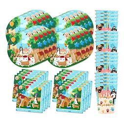 Puppy Dog Party Pups Birthday Party Supplies Set Plates Napk