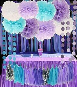 Purple And Black Decorations Party  from images.party-decorations.org