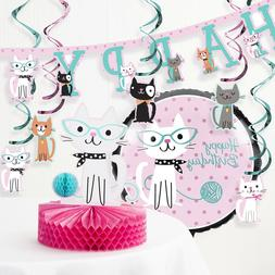 Creative Converting Purr-fect Cat Birthday Party Decorations