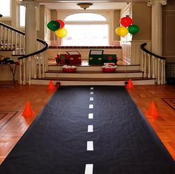 Race Car Theme Birthday Party Racetrack Floor Runner Decorat