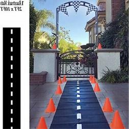 Adorox 1 Pk Racetrack Floor Runner Party Decoration Race Car
