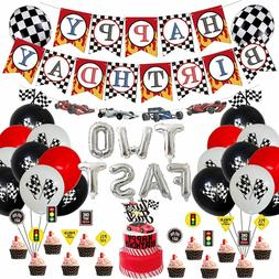 Racing Car Birthday Party Supplies Decorations for Boys Kids
