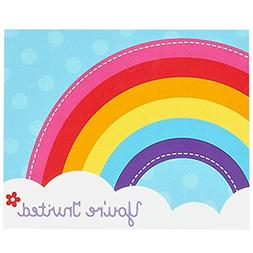Rainbow Wishes Party Supplies - Invitations
