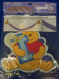 RARE Winnie the Pooh 1st Birthday Boy Blue Party Decoration