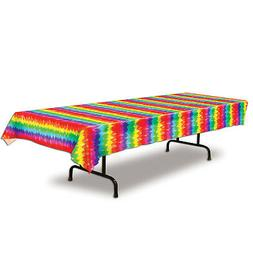 Retro 1960s 60s Party Decoration TABLE COVER HIPPIE TIE DIE
