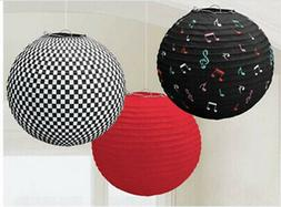 ROCK AND ROLL 1950s PAPER LANTERN DECORATIONS 1960s party su