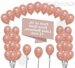 Rose Gold Balloons Party Decorations - Pack of 36, Great Ros
