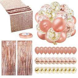 Rose Gold Balloons Party Decorations Supplies Set 35 Pack In