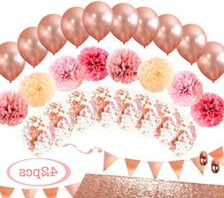 MintieJamie Rose Gold Party Decoration, Event Decor with bal