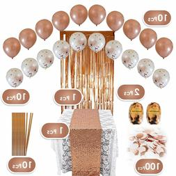 Rose Gold Party Decorations Birthday Baby Shower Bridal Part
