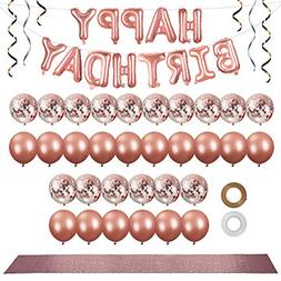 Rose Gold Party Decorations Set  - 12 in Rose Gold Balloons
