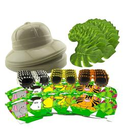 SAFARI PARTY PACK - Jungle Theme Party Supplies Set for 12 K