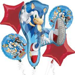 Saga Sonic the Hedgehog Foil Balloon Bouquet Birthday Party