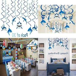 Shark Party Supplies Summer Hanging Swirls Sea/Sharknado/Kid