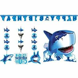 Shark Splash Party Decorations Supply Pack Hanging Cutouts,