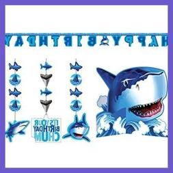 Shark Splash Party Decorations Supply Pack Hanging Cutouts B