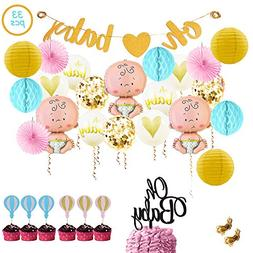 Baby Shower Party Decorations Kit Unisex, Girls and Boys | O