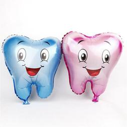 Smile Tooth Foil Balloons Birthday Party Decorations Kids We
