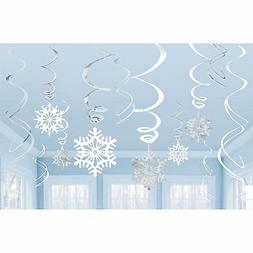 Amscan Snowflake Swirl Decorations 12 Ct