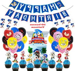 Sonic the Hedgehog Birthday Party Decorations Balloons Suppl