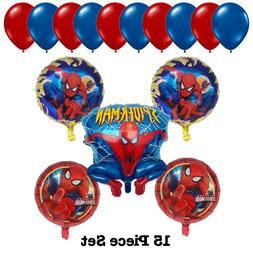 Spiderman Kids Foil Birthday Party Balloons Bouquet Set Supp