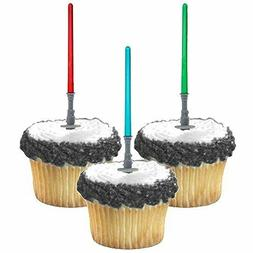 Adorox Star Wars Lightsaber Cupcake Picks Toppers Birthday F
