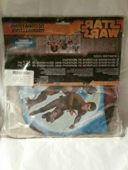 STAR WARS Rebel Hanging Swirl Decorations~12 Party Supplies