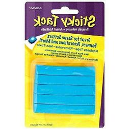 """Sticky Tack Party Decoration Adhesive, Blue, 6"""" X 3.8"""" 1"""
