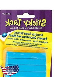 "Amscan Sticky Tack Party Decoration Adhesive, Blue, 6"" X 3.8"
