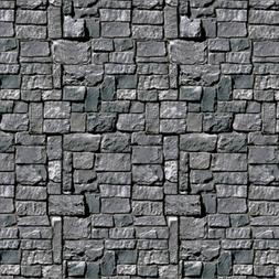 Beistle Stone Wall Backdrop Party Accessory | 4-Feet by 30-F