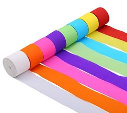 82ft Streamer Paper Decorations Assorted Colors Crepe Paper