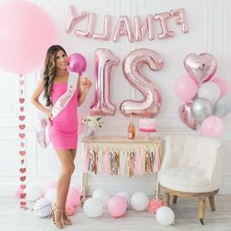 STUNNING 21st Birthday Decorations Party Supplies Finally 21