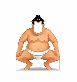 Advanced Graphics Sumo Wrestler Stand-in Life Size