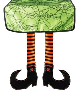 DII Table Runner Witch Legs Perfect Halloween Decoration Dec