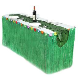 Table Skirt, outgeek Party Table Decoration Plastic Table Cl