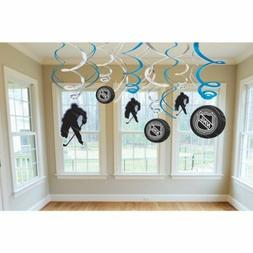 Amscan Sports & Tailgating NHL Party Ice Time! Swirl Decorat